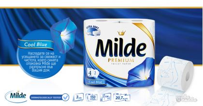 Milde Premium Cool Тоалетна хартия 4 бр