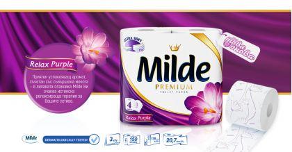 Milde Premium Relax Тоалетна хартия 4 бр