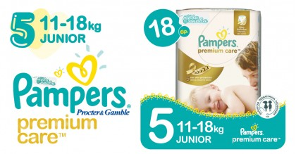 Pampers 5 Mini 11-18 kg Premium care Пелени 18 бр