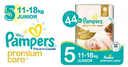 Pampers 5 Junior 11-18 kg premium care Пелени 44 бр