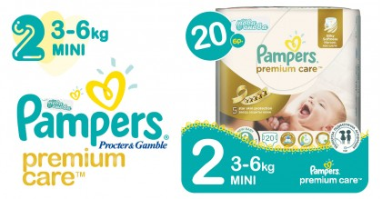 Pampers 2 Mini 3-6 kg Premium care Пелени 20 бр