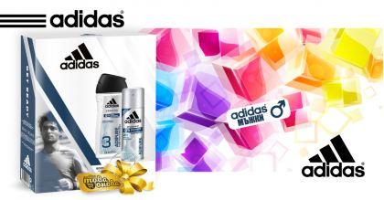 Adidas Adipure Комплект Душ гел + Дезодорант - Мъжки