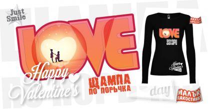 Малък пакостник Love Дамски Тениски с Тематична щампа Valentine's Day