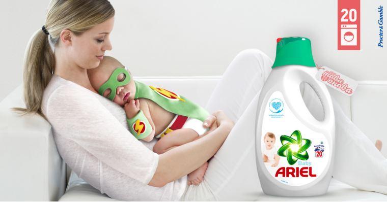 Ariel Baby 20 Течен препарат за бебешки дрехи 1100 ml