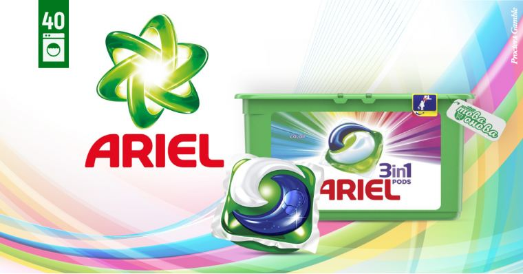 Ariel 3in1 PODS Color Капсули за пералня 40 бр