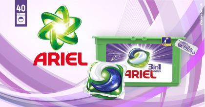 Ariel 3in1PODS Freshness Lavender Капсули за пералня 40 бр
