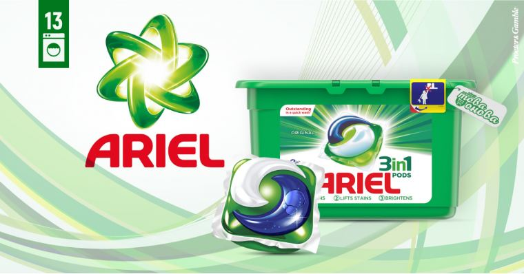 Ariel 3in1 PODS Mountain Spring Капсули за пералня 13 бр