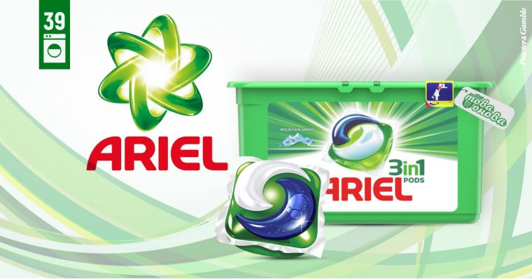 Ariel 3in1 PODS Mountain Spring Капсули за пералня 39 бр