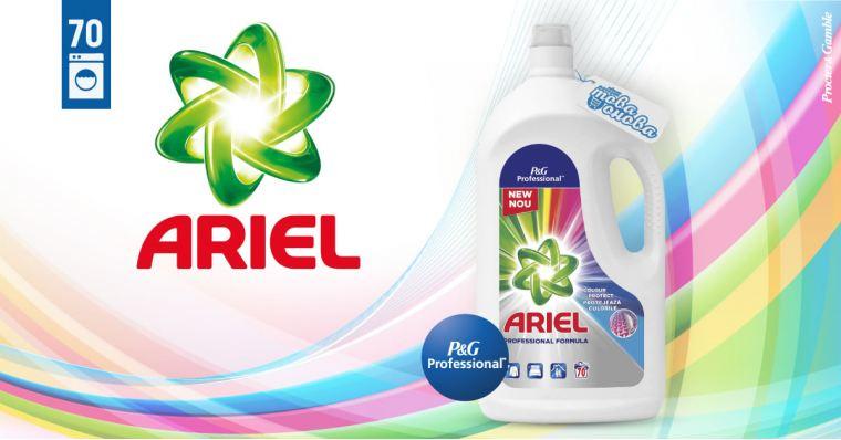 Ariel Proffesional Color 70  Течен препарат за цветни дрехи 3850 ml
