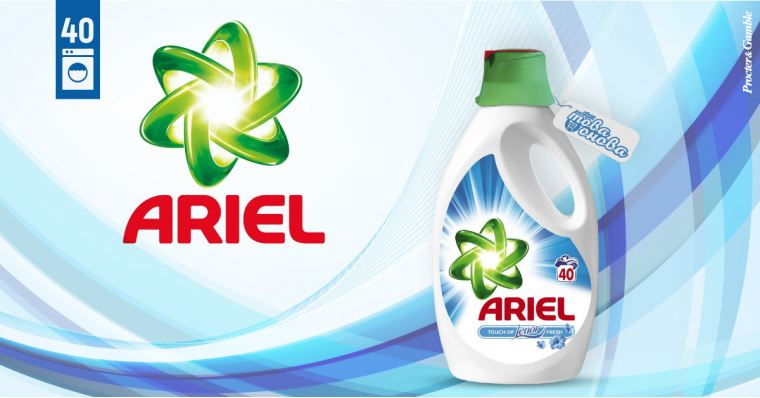 Ariel Fresh 40 Touch Of Lenor - Течен препарат 2200 ml