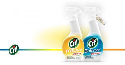 Cif Ultrafast Спрей за баня и за кухня 500 ml