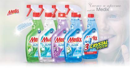 MEDIX Glass Почистващи препарати за Стъкла 500 ml