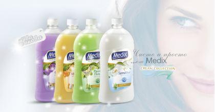 Medix Crame Течени сапуни за ръце Пълнител 900 ml