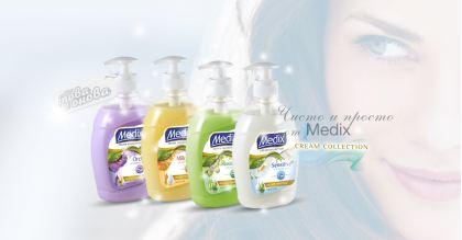 Medix Crame Течени сапуни за ръце Помпа 400 ml