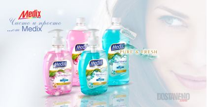Medix Антибактериални Течни сапуни Pure and Fresh 400 или 900 ml