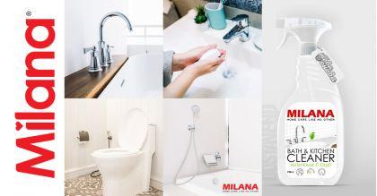 Milana Анти-калк препарат за баня и кухня с оцет 750 ml