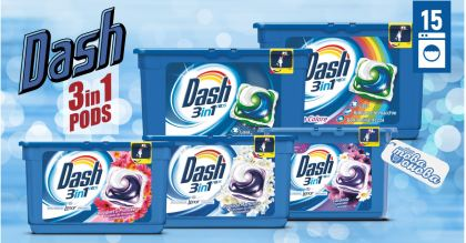 Dash PODS 3in1 Classic Капсули за пералня 17 бр