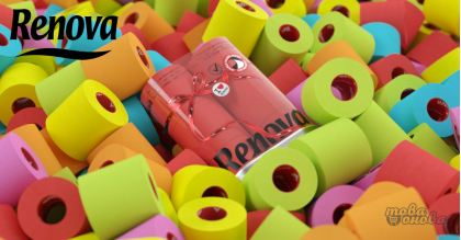 Renova Color Тоалетна хартия пакет 6 бр