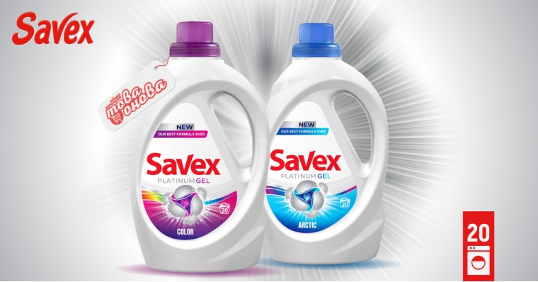 Savex Platinum Течен препарат за пране 1.100 l
