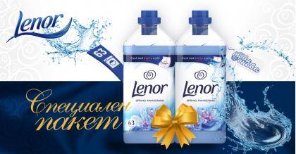 Lenor Омекотител Spring Awakening 2 x 1.9 Liters
